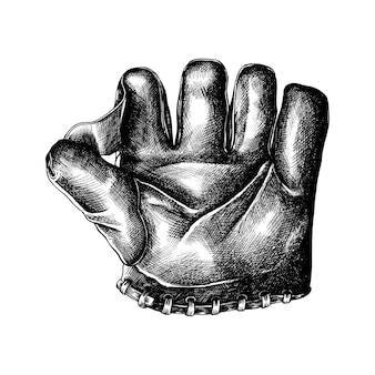 Hand drawn sport leather glove