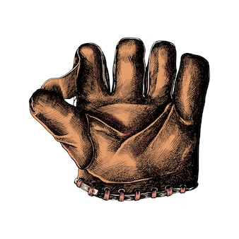 Hand drawn sport leather glove