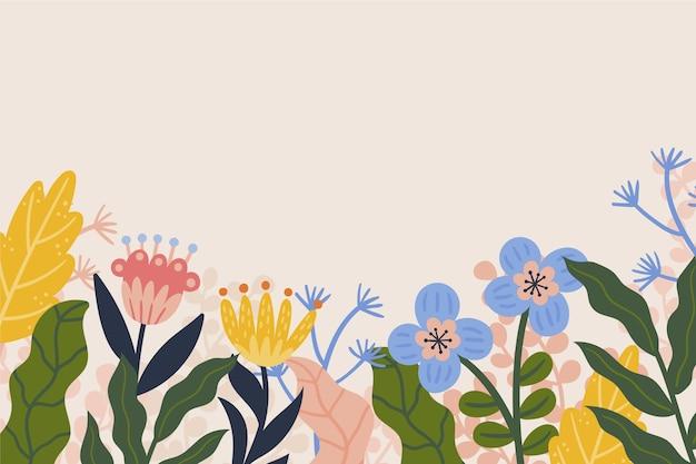 Ручной обращается весенний фон с цветами
