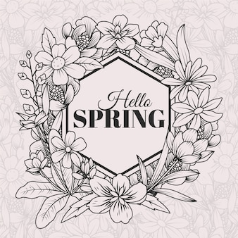 手描きの春の背景