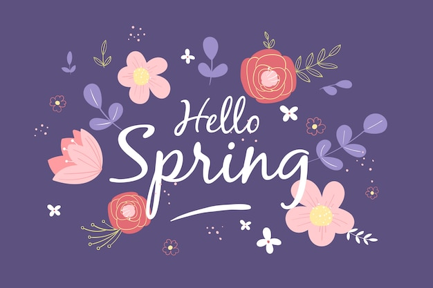 Hand-drawn spring background