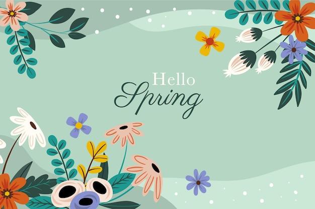 Sfondo primavera disegnata a mano
