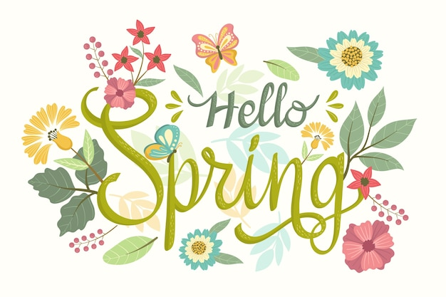 Hand drawn spring background