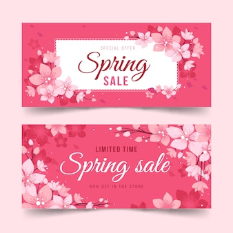 Hand drawn spring banners