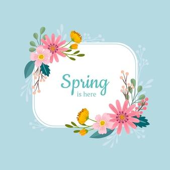 手描き春花フレーム