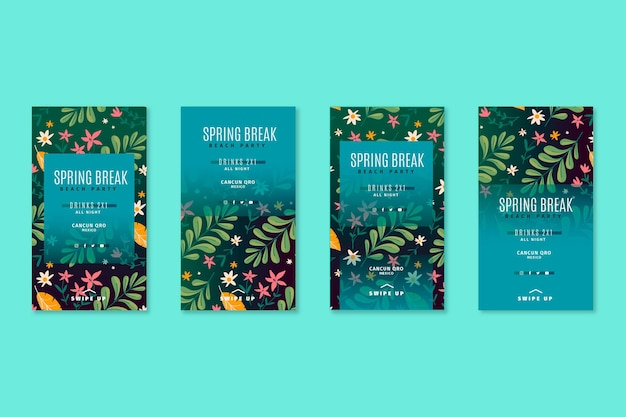 Storie di instagram di primavera disegnate a mano