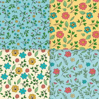 Hand-drawn spring pattern collection theme