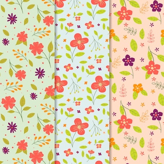 Hand-drawn spring pattern collection