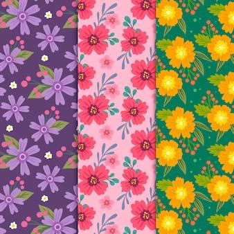 손으로 그린 봄 패턴 컬렉션