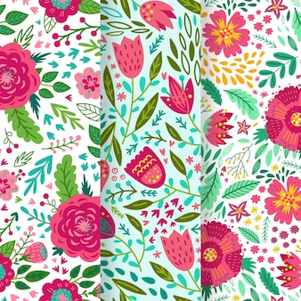Hand drawnspring pattern collection