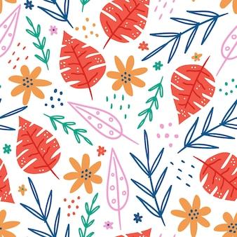 手描きの春のパターン