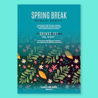 Modello di poster di primavera disegnata a mano