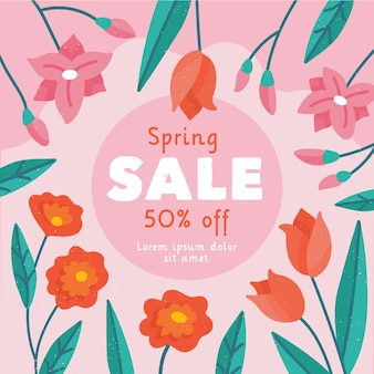 Hand-drawn spring sale campaign