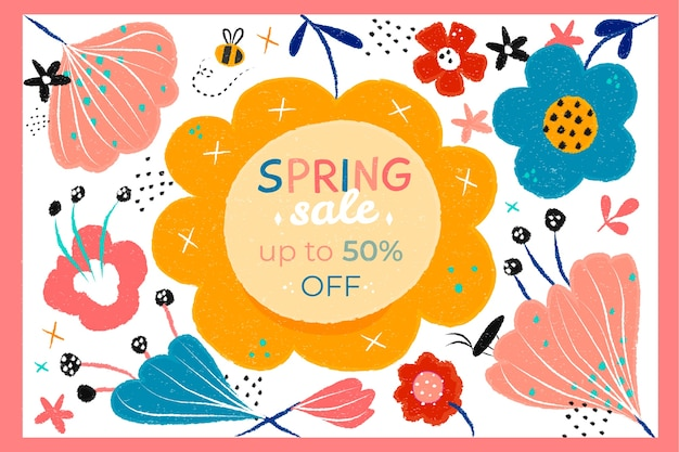Hand drawn spring sale discount