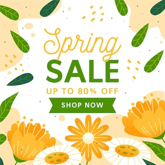 Hand drawn spring sale illustration