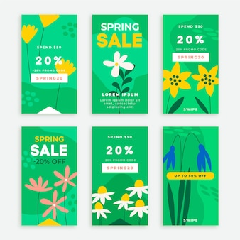 Hand drawn spring sale instagram stories