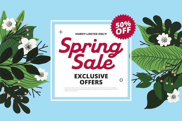 Hand drawn spring sale offers