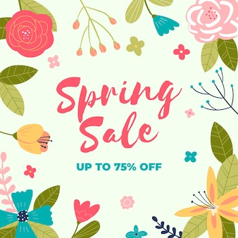 Hand-drawn spring sale theme