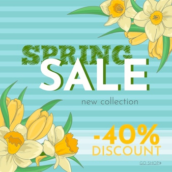 Hand drawn spring sale