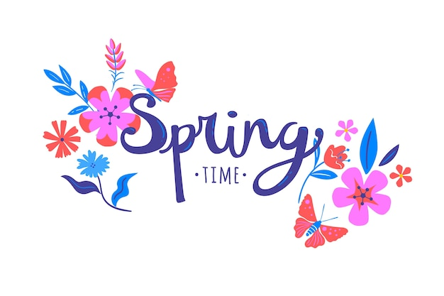 Hand drawn spring time background