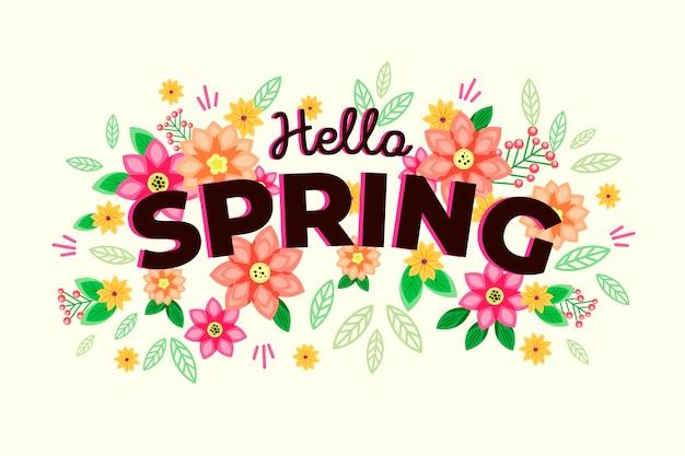 Hand-drawn spring wallpaper