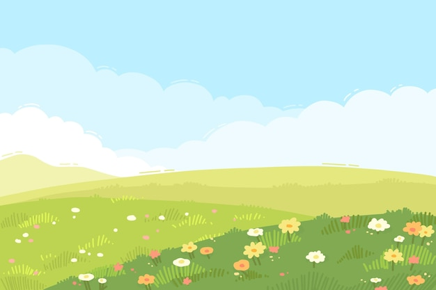 Hand drawn spring wallpaper