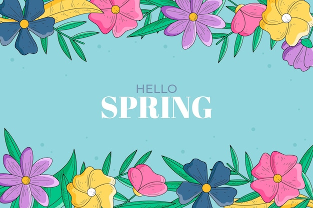 Hand drawn spring wallpaper