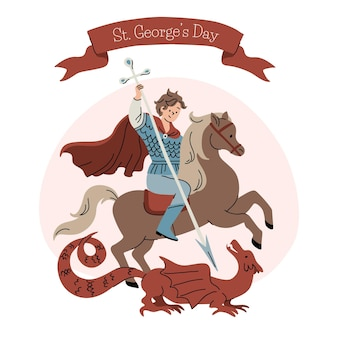 Hand drawn st. george's day illustration