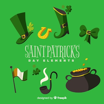 Hand drawn st patrick day elements collection