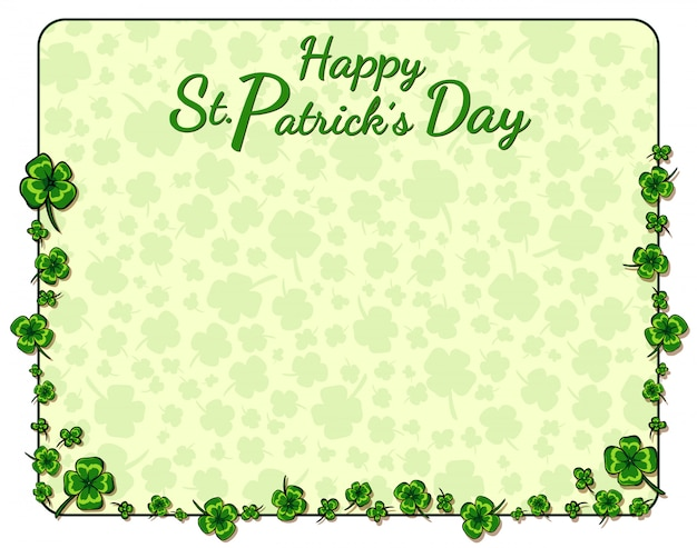 Hand drawn st. patrick s day background