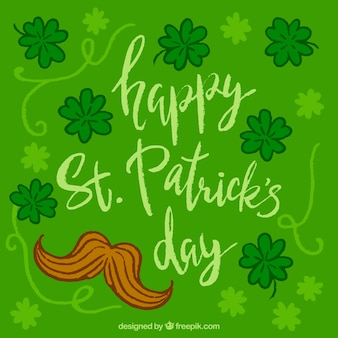 Hand drawn st. patrick's day background