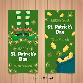 Hand drawn st. patrick's day banner