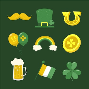 Hand drawn st. patrick's day elements collection