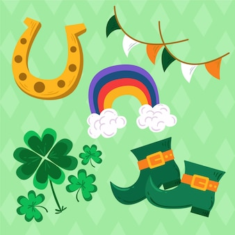 Hand-drawn st. patrick's day elements pack