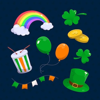 Hand-drawn st. patrick's day elements set