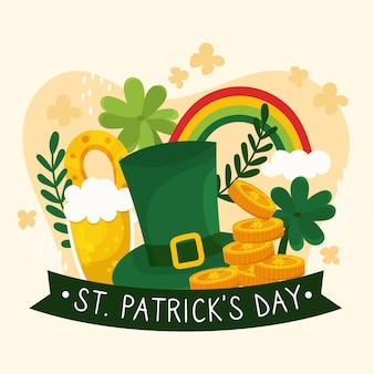 Hand drawn st. patrick's day elements