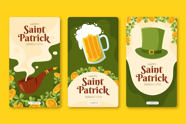 Hand drawn st. patrick's day instagram stories