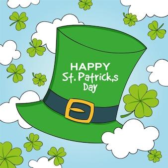Hand drawn st. patrick's day leprechaun hat