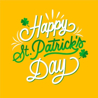 Hand-drawn st. patrick's day lettering