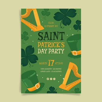 Hand drawn st. patrick's day poster template