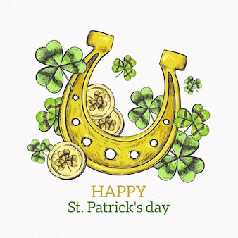Hand drawn st patricks day concept