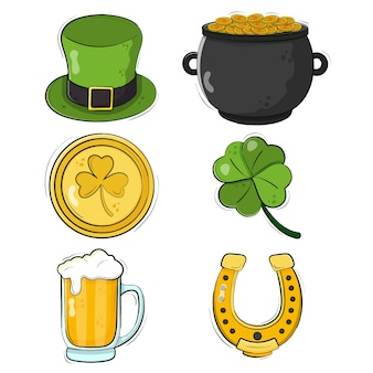 Hand-drawn st. patricks day element collection design