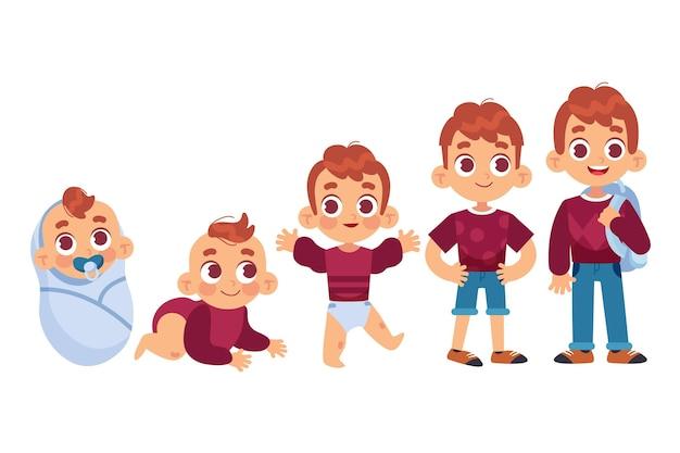 男の子の手描きのステージ