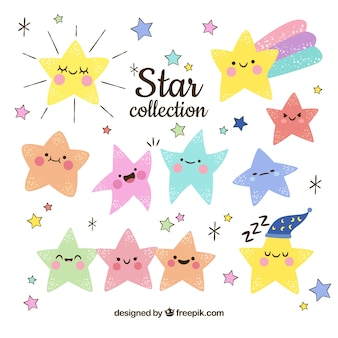 Hand drawn star collection