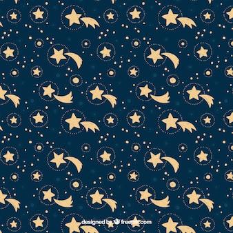 Hand drawn stars pattern background