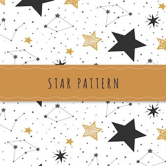 Ручной обращается звезды узор фона