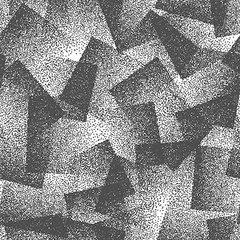 手描きの点描の正方形黒と白のテクスチャ抽象的なシームレスパターン