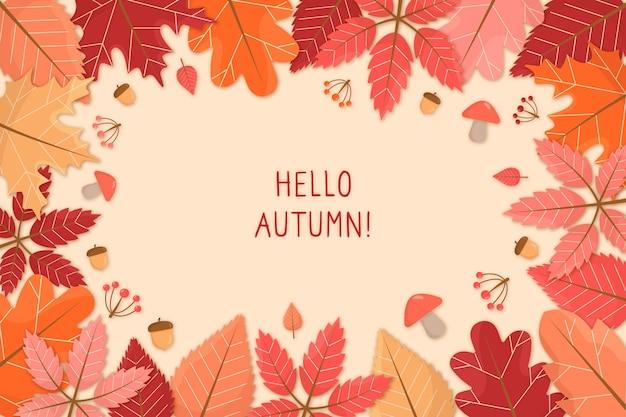 Sfondo autunno stile disegnato a mano