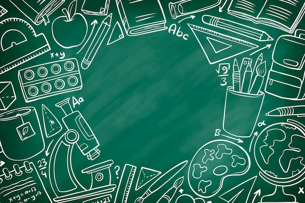 Hand drawn style back to school background