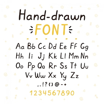 Hand drawn style brush font. abc big and small letters set collection. vector doodle style font illustration design. hand drawn letters concept. isolated on white